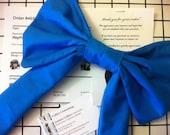 Blue Bow clip