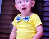 Lemon Yellow Boy Bowtie Onesie or shirt - NB to 12 Yrs - Pick Your Own - Birthday, Wedding, Sunday Dress
