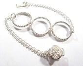 Delicate triple silver loop bracelet... hoop bracelet... simple bracelet
