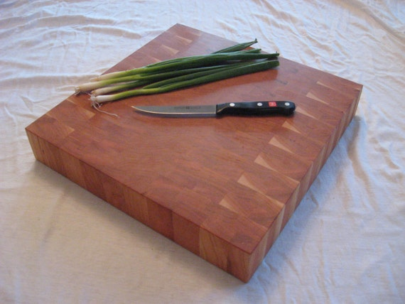 Large End Grain Cherry Wood Cutting Board / Butcher Block