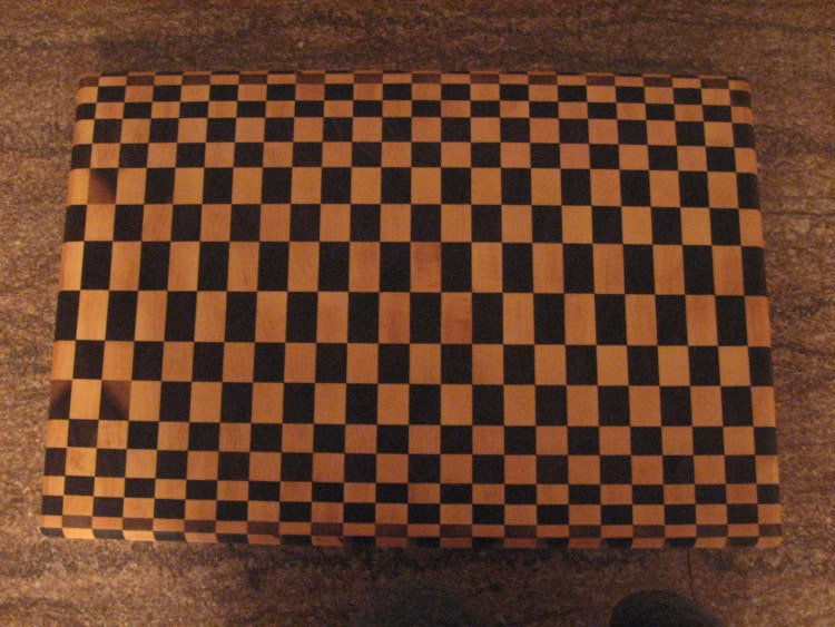 Optical Art End Grain Cutting Board By Kentuckyhardwoods
