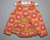 Darling Reversible Dress with matching Ruffled Bloomers