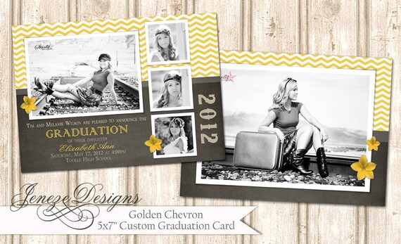 "5x7"" Senior Graduation Announcement"