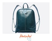 100% genuine leather handmade ocean blue backpack ll travel backpack ll useful  backpack ll Ready to ship item