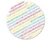 Melamine Plates - Set of 4 - Rainbow ABC's