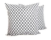 Black and White Pillow Decorative Throw Pillow Covers Throw Pillow Covers 18x18 Pillow Case Cushion Cover Printed Fabric both sides