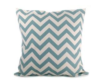 Pillow - Blue pillow - Village Blue - Blue Pillow Cover - Throw Pillow covers  Throw Pillows Decorative pillow Accent pillow Blue Cream