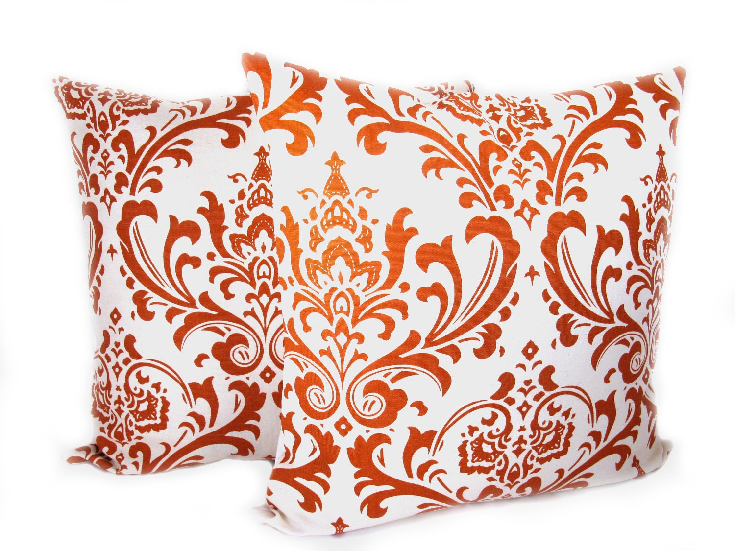 ORANGE PILLOW Burnt Orange Pillow Decorative Orange By