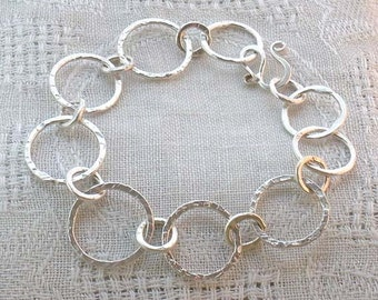 Fused Fine-silver Circles Bracelet
