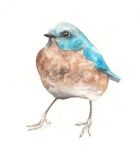 Watercolor Bird Print, Watercolor Print, Bird Art, Watercolor Art, Watercolor Painting, Wall Art, Wall Decor, Nursery Wall Art, Blue Bird
