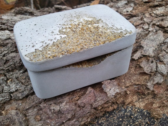 concrete box eroded small concrete box with lid urban fossil