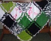 Breast Cancer Awareness Tie Blanket