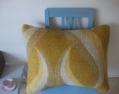 Warm wool cushion cover made from recycled vintage woolen blankets