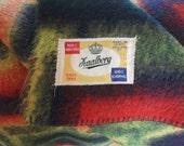 Retro vintage wool blanket  Zaalberg made in Holland  woolen blanket