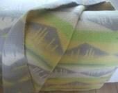 Retro vintage wool blanket made in Holland  woolen blanket