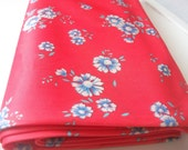 Vintage fabric retro fabric 3 yards pink with flowes