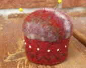 Felted Wool Sweater Pincushion