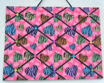 Zebra hearts photo/ memo board