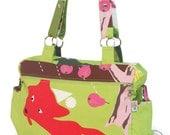 Diaper Bag - Fox print