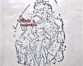 Santa Rubber Stamp with Pipe and Toys