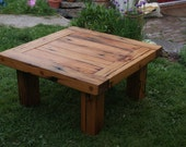 Coffee Table or Low Outdoor Table from Reclaimed Lumber