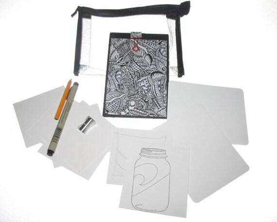 Travel Size Zentangle Inspired Kit