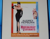 Breakfast at Tiffany's Movie Advertisement Framed and Matted