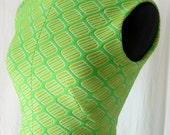 Super Mod Neon A-Line Dress - Green 1960s