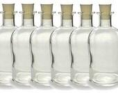 Glass Bottles - Set of Six - Cork Bottle