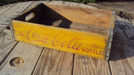 Free Shipping - Vintage Coke Crate Box