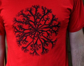 Coral tshirt. Natural history tshirt. Red. Holiday sale.
