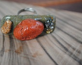River Stone Ring - Eco friendly - One of a kind