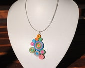 Colourful Paper Quilled Necklace - Eco friendly