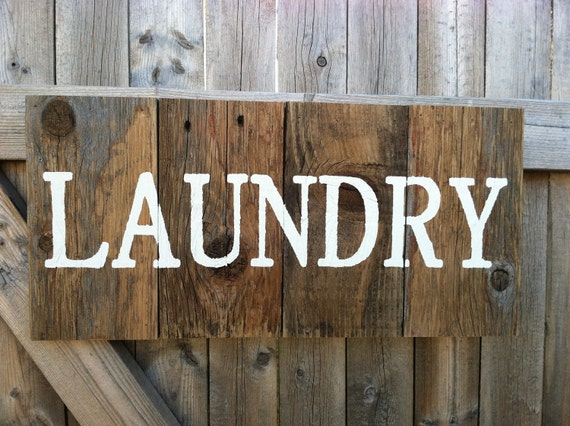 Rustic Western Red Cedar Laundry Room Sign