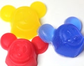 Baby shower- Mouse Kid Soaps-  Kid Party Favors - Birthday Party - Set of 8 mouse faces