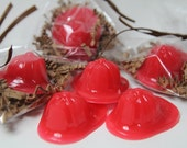 Fireman Hat Kid Soaps - Kid Party Favors - Birthday party - 12 Fireman Hat Pieces