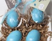 Bird Nest Eggs Baby Shower Soap  - Baby Shower Party Favors -  Robin Egg Nest Set of 20