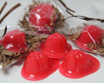 Fireman Hat Kid Soaps - Kid Party Favors - Birthday party - 20 Fireman Hat Pieces