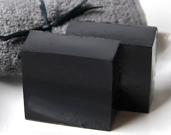 Bamboo Charcoal Facial Soap - All Natural Fragrance Free Handmade Vegan - Activated Charcoal face soap
