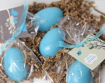 Bird Nest Eggs Baby Shower Soap  - Baby Shower Party Favors -  Robin Egg Nest Set of 30