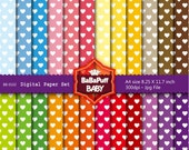 Buy 2 Get 2 Free ---- Hearts Digital Papers ---- Personal and Small Commercial Use ---- BB 0102