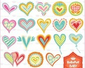 Buy 2 Get 2 Free ---- Digital Hearts ---- Personal and Small Commercial Use ---- BB 0115