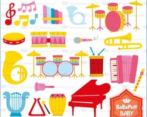 Musical instruments Set 2---- Clip Art Personal and Small Commercial Use ---- BB 0145
