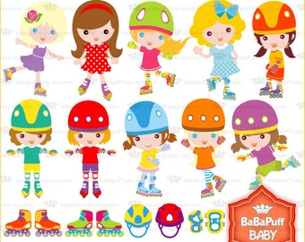 Roller Skate Clip Art ---- Personal and Small Commercial Use ---- BB 0062