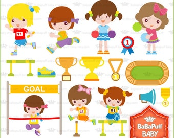 Buy 2 Get 2 Free ---- Running Girls ---- Personal and Small Commercial Use ---- BB 0067