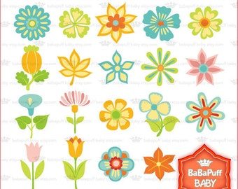 Buy 2 Get 2 Free ---- 19 Digital Flowers --- Personal and Small Commercial Use ---- BB 0147