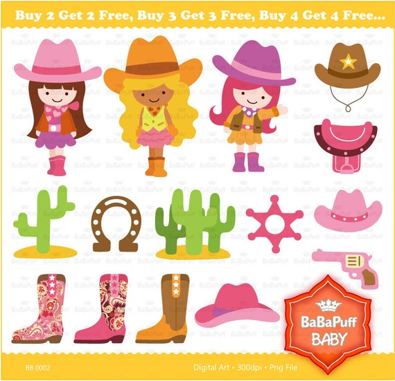 Buy 2 Get 2 Free ---- Digital Cowgirls ---- Personal and Small Commercial Use ---- BB 0002