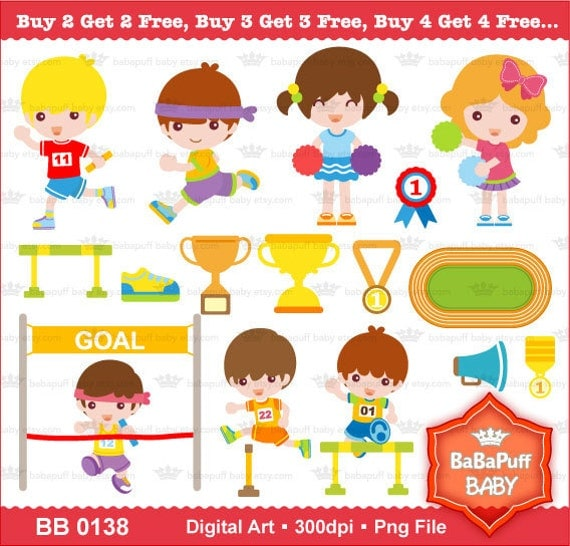 Buy 2 Get 2 Free ---- Running Boys ---- Personal and Small Commercial Use ---- BB 0138