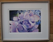 Listing for Joan Original Floral Watercolor 'Hydrangeas""