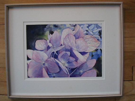 "Listing for Joan Original Floral Watercolor 'Hydrangeas"""